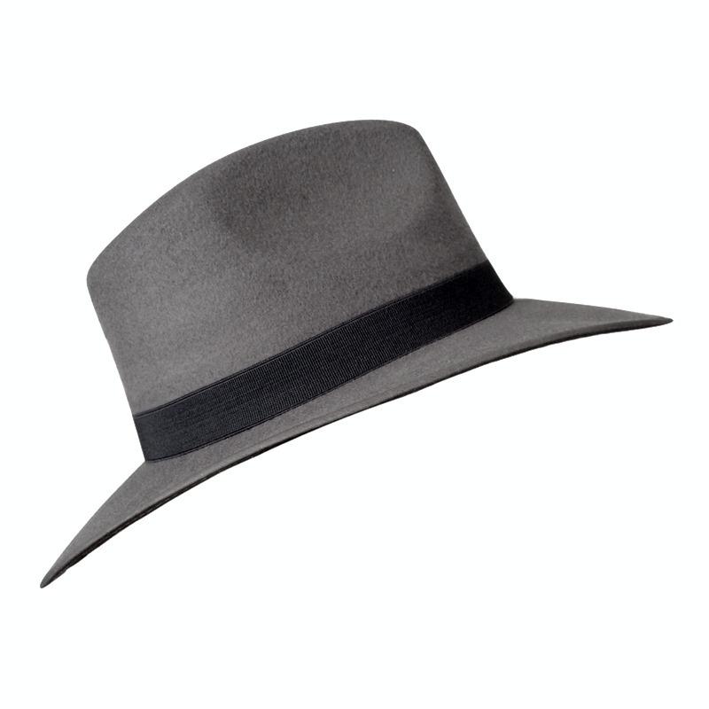 sombrero mujer sombrero gris fedora sombreros dama 299 00 en
