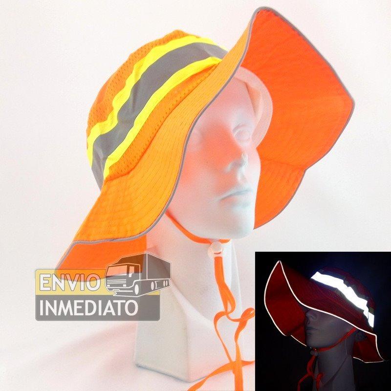 Sombrero Naranja De Seguridad Reflejante -   13.50 en Mercado Libre 49af51e095b