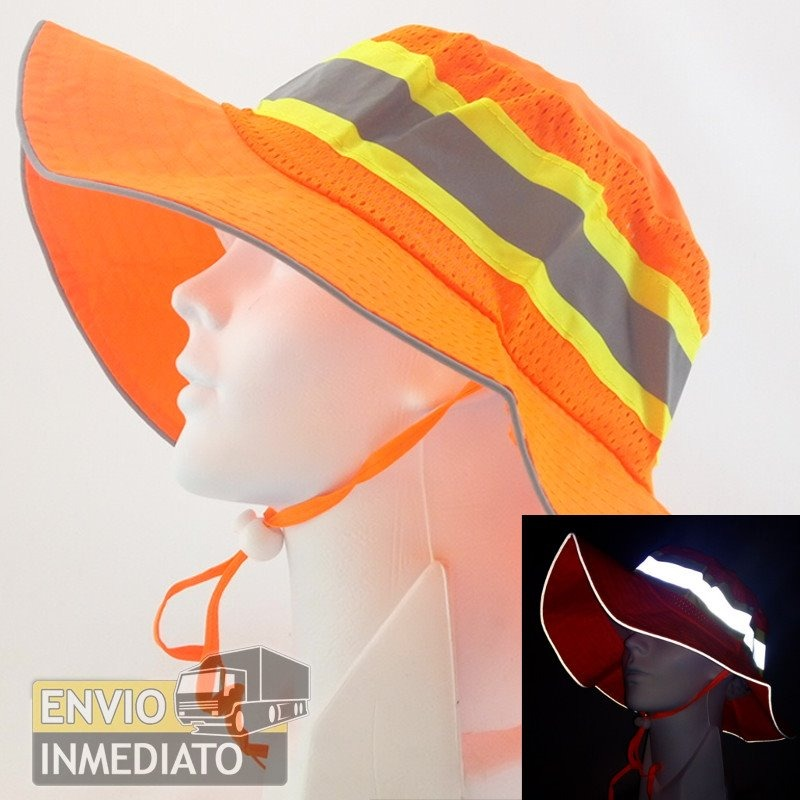 Sombrero Naranja De Seguridad Reflejante Caminata Staff -   13.50 en ... 81f8e3768fc