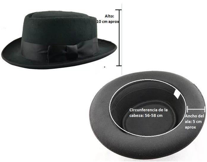 e4402fdfe324e Sombrero Negro Ala Corta Vintage Hipster Funky Derby Unisex ...