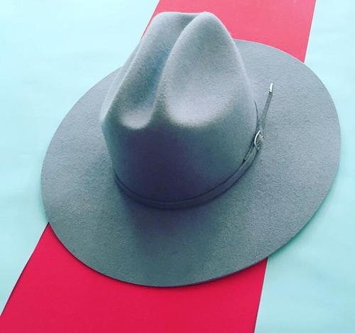 sombrero negro hipster vanwho ozzy ala ancha 10cm