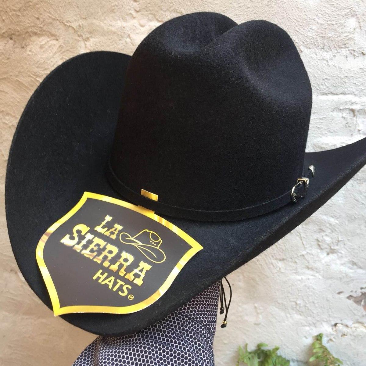 Sombrero Negro Vaquero De Fieltro Horma Lupillo -   409.00 en ... 975731115b3