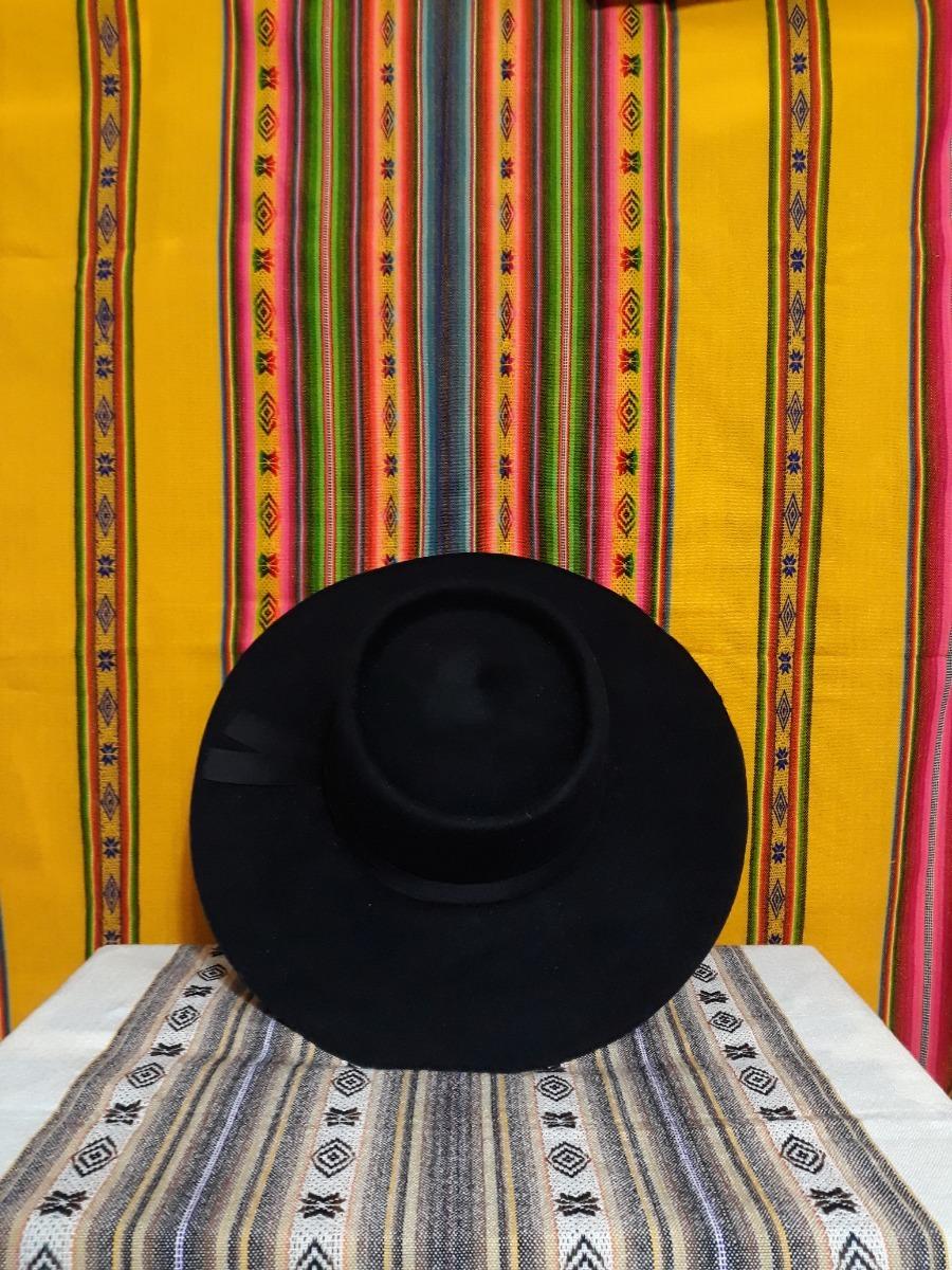 Sombrero Norteño Negro De Paño Gaucho Varios Talles Y Alas -   1.400 ... 46d4e1045c7