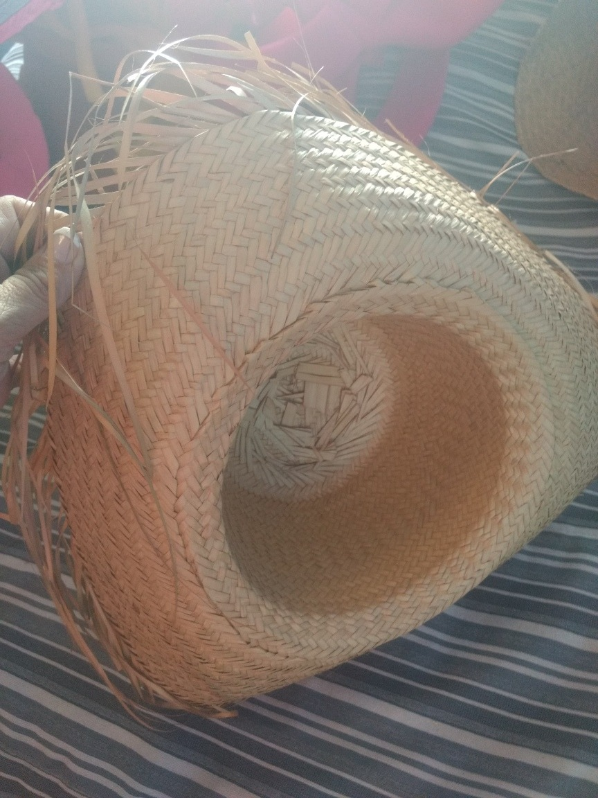 sombrero paja marron gorro .disfraz o cotillom. Cargando zoom. 9eec8efedb8