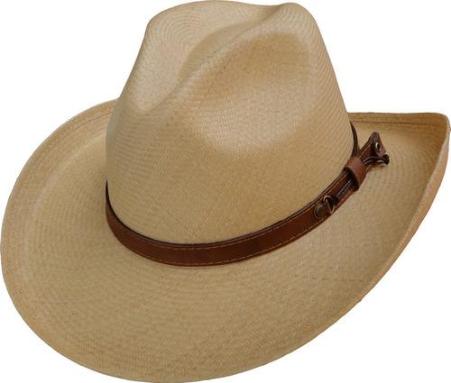 sombrero paja toquilla extrafina tejido a mano ref. boston