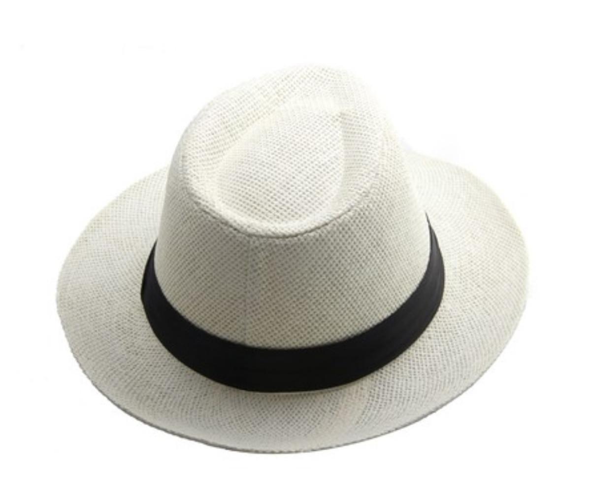Sombrero Panama En Color Blanco Y Marron - Mercadolider -   259 c820d348276