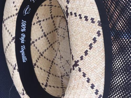 sombrero panamá hat a cuadros