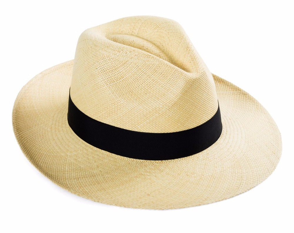 Sombrero Panama Original Marfil. De Paja, Genuino De Ecuador ...