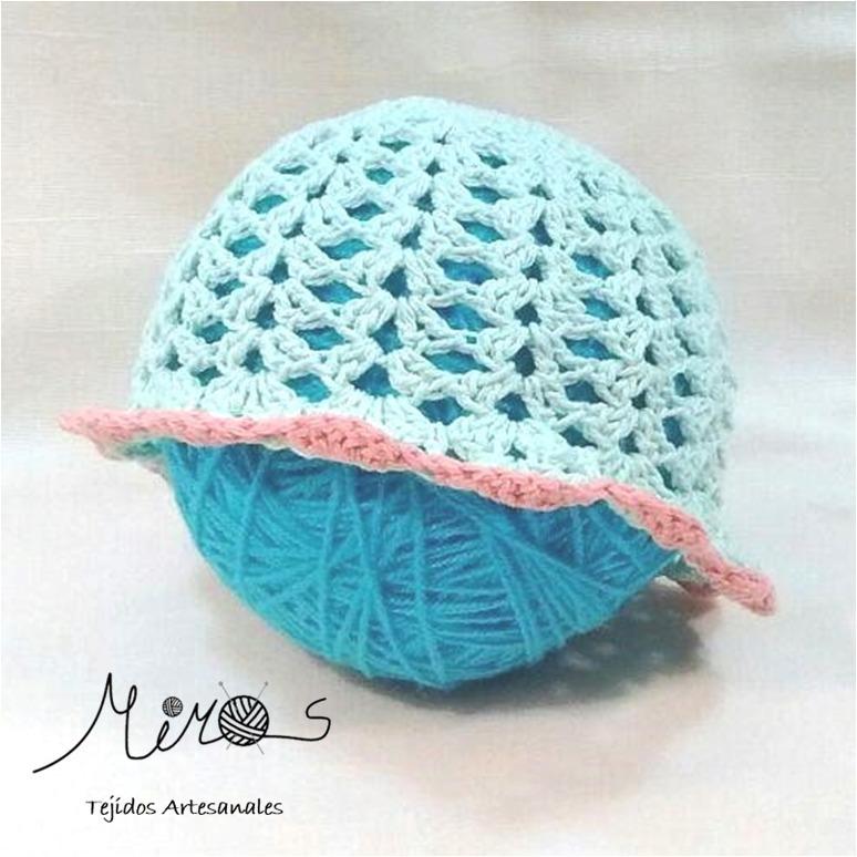 66db31a34a6cf Sombrero Para Bebé Recién Nacido A Crochet -   110