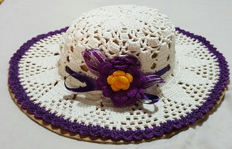 01b3807057860 sombrero para dama tejido a mano (crochet) para el verano. Cargando zoom.