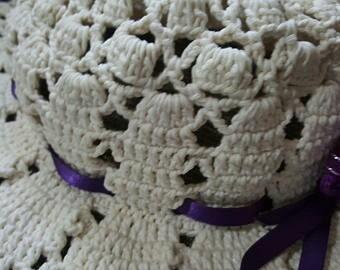 862af5a1ed3cc Sombrero Para Dama Tejido A Mano (crochet) Para El Verano -   400.00 ...