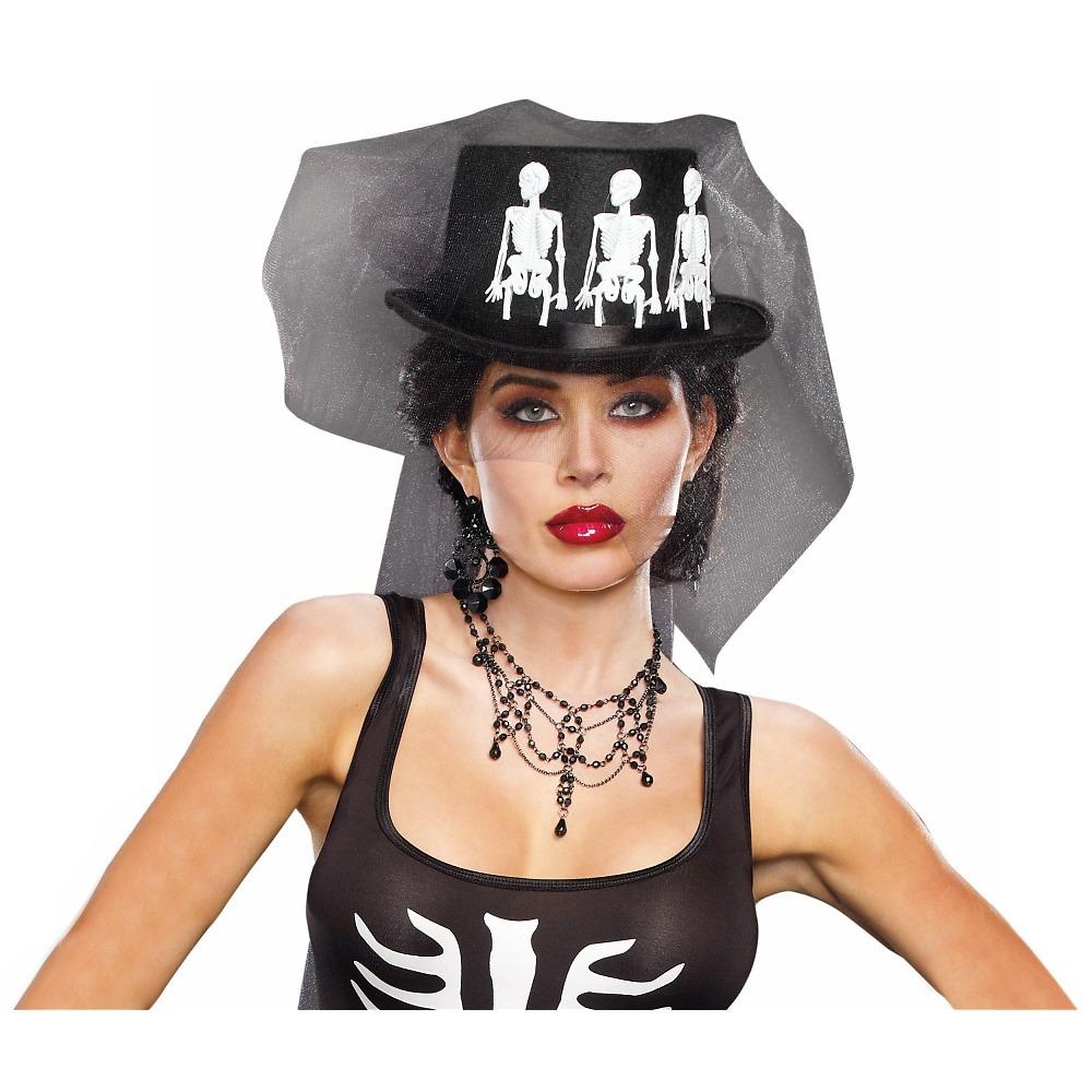 Sombrero Para Disfraz Adulto Ms. Bones - Halloween -   96.550 en ... 3de1d168553