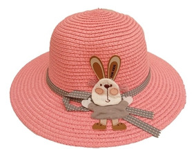 3a7972d4 Sombrero Para Niña De 2 Años En Adelante En Paja Para El Sol