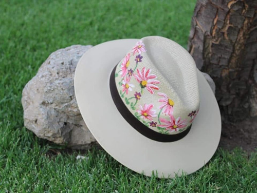 sombrero pintado a mano (artesanía) 3pzas