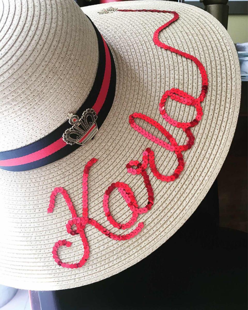 Sombrero Playa. Estilo Gucci. Sombrero Personalizado. -   490.00 en ... de13f361091