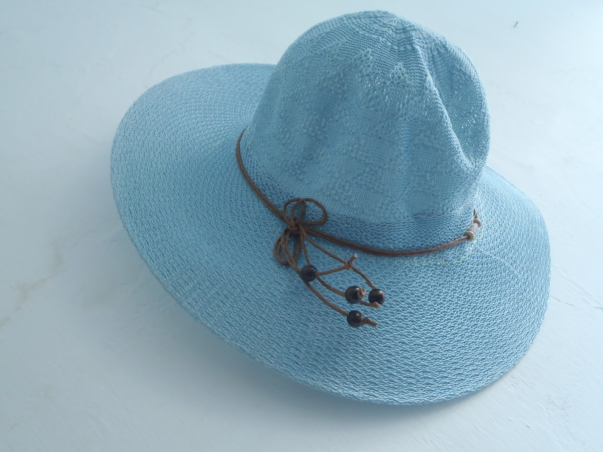 Sombrero Playero Dama Piscina Azul Rosado Blanco Oferta - Bs. 11.647 ... b34efec96876