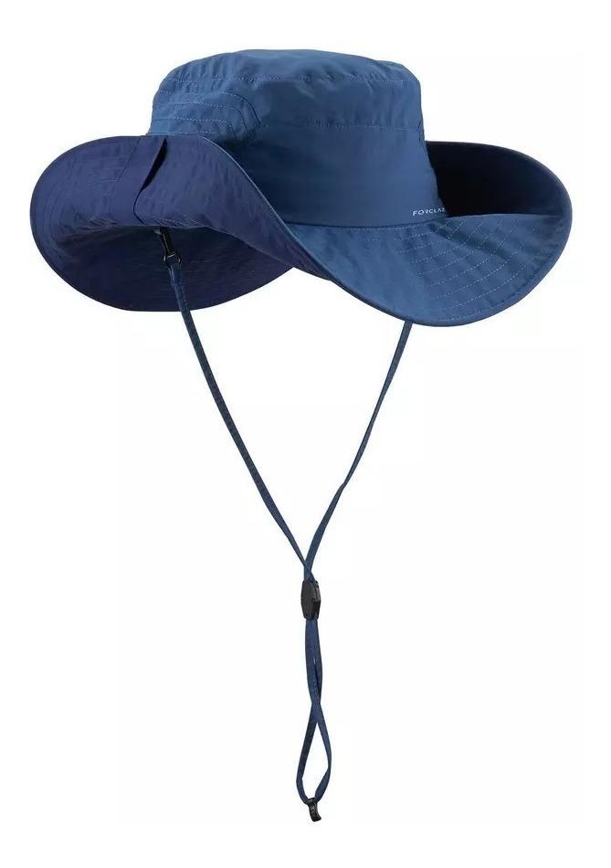 b28c6e83e0d sombrero quechua de trekking forclaz trekk 500 anti-uv azul. Cargando zoom.
