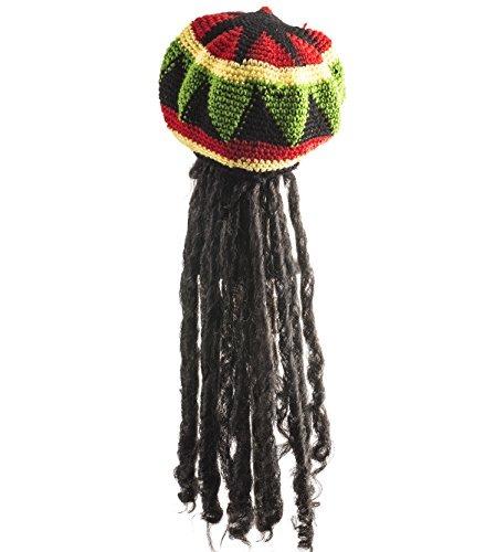 Sombrero Rasta Con Bloqueo De Dreadlock Como Largo Cabell ... 01bd7ce343b