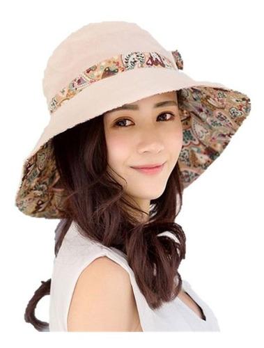 sombrero reversible visera ancha protector solar doble vista