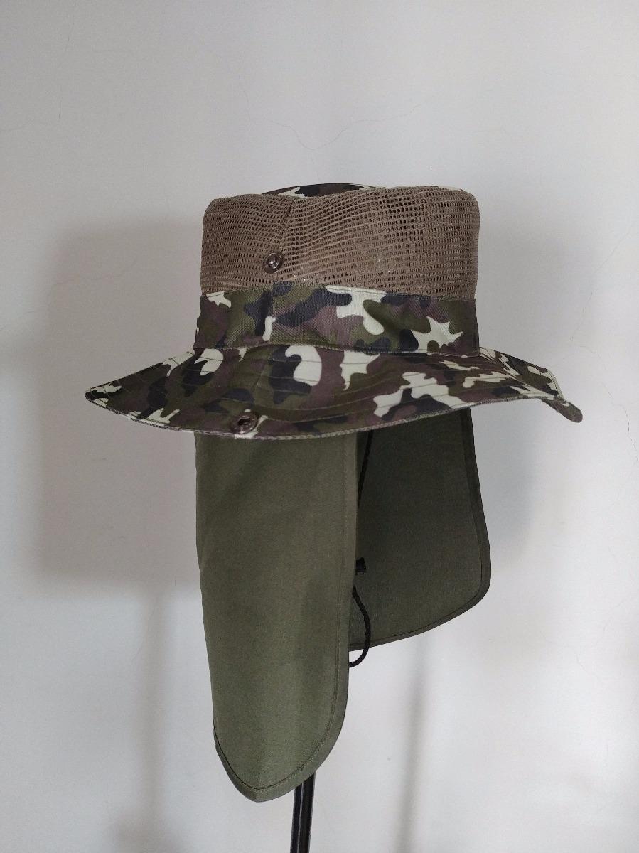sombrero safari cazador excursion camuflaje excelente calida. Cargando zoom. 2536240495b