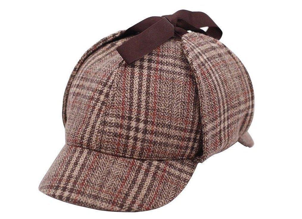 Sombrero Sherlock Holmes Hat Deerstalker (circunferencia 21 ... b38225e09e3