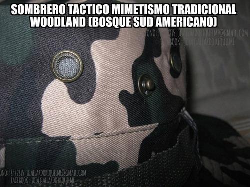 sombrero tactico militar jungla woodland tradicional camufla
