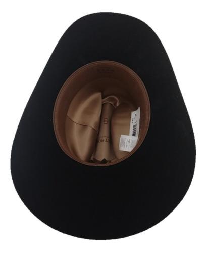sombrero texana 4 x marca stetson negro lana pelo de búfalo