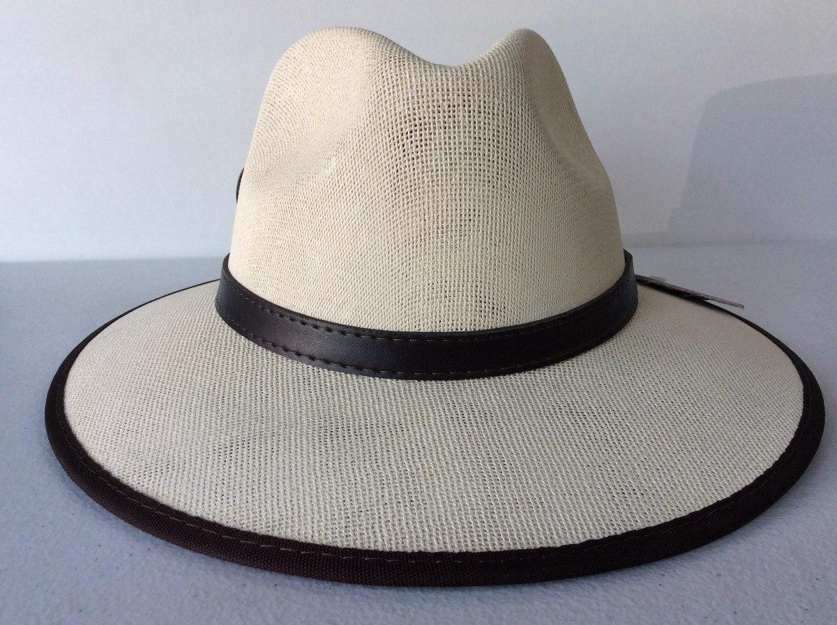 ef541fc50de50 sombrero tipo indiana blanco borde verano jones playa sol. Cargando zoom.