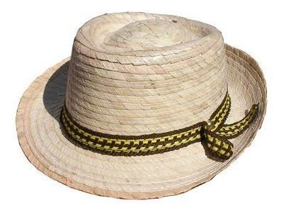 sombrero tipo panama, sombrero para niño, sombrero de palma
