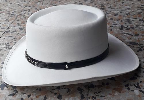 sombrero vaquero en tela almidonada para hombre y mujer