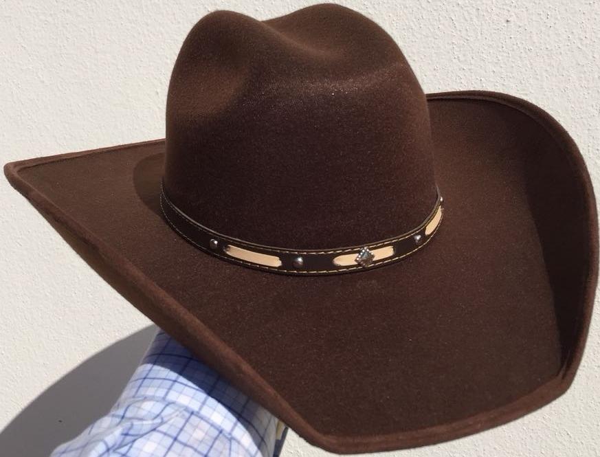 Sombrero Vaquero Forrado De Tela Café -   277.00 en Mercado Libre e394b110ceb