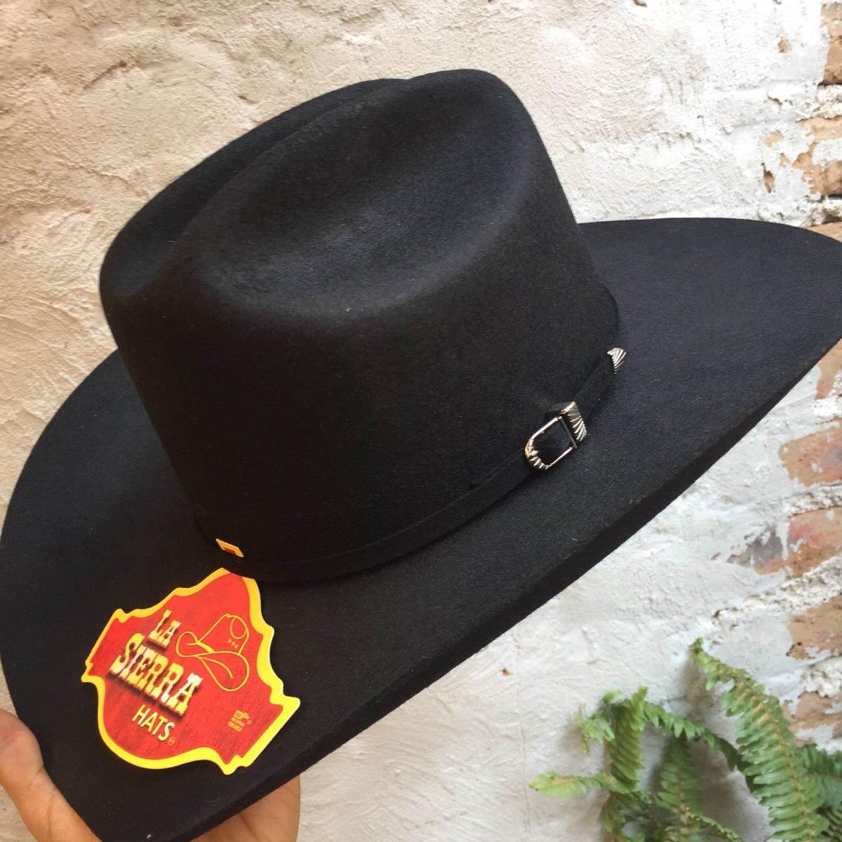 Sombrero Vaquero Negro De Fieltro Horma Americano -   409.00 en ... fccaeda699c