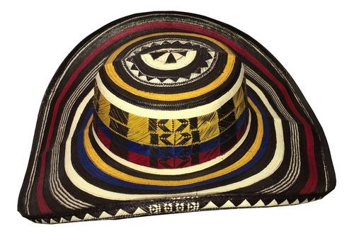 sombrero vueltiao 21 vueltas original colombiano tricolor
