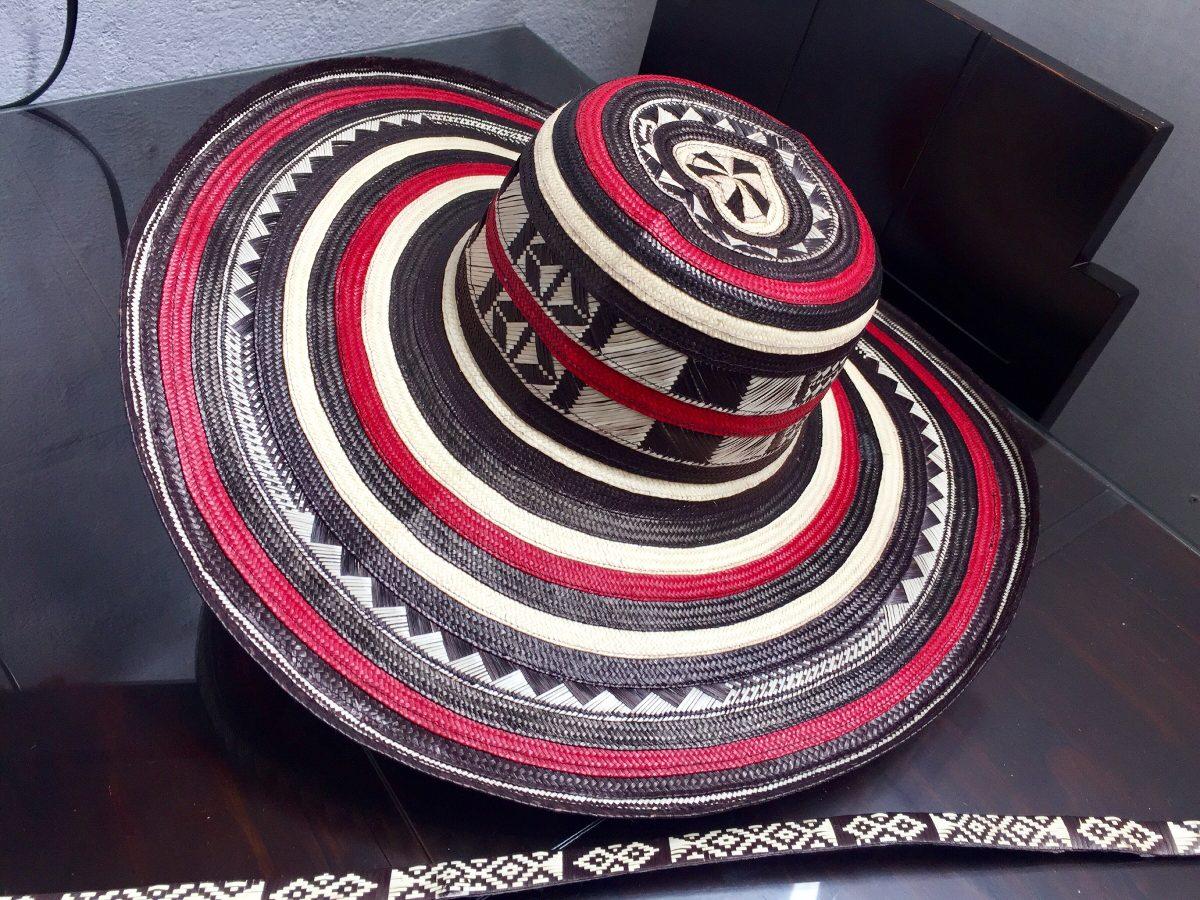 sombrero vueltiao colombiano 19 vuelta rojo y cinto original. Cargando zoom. 57312bc1b30