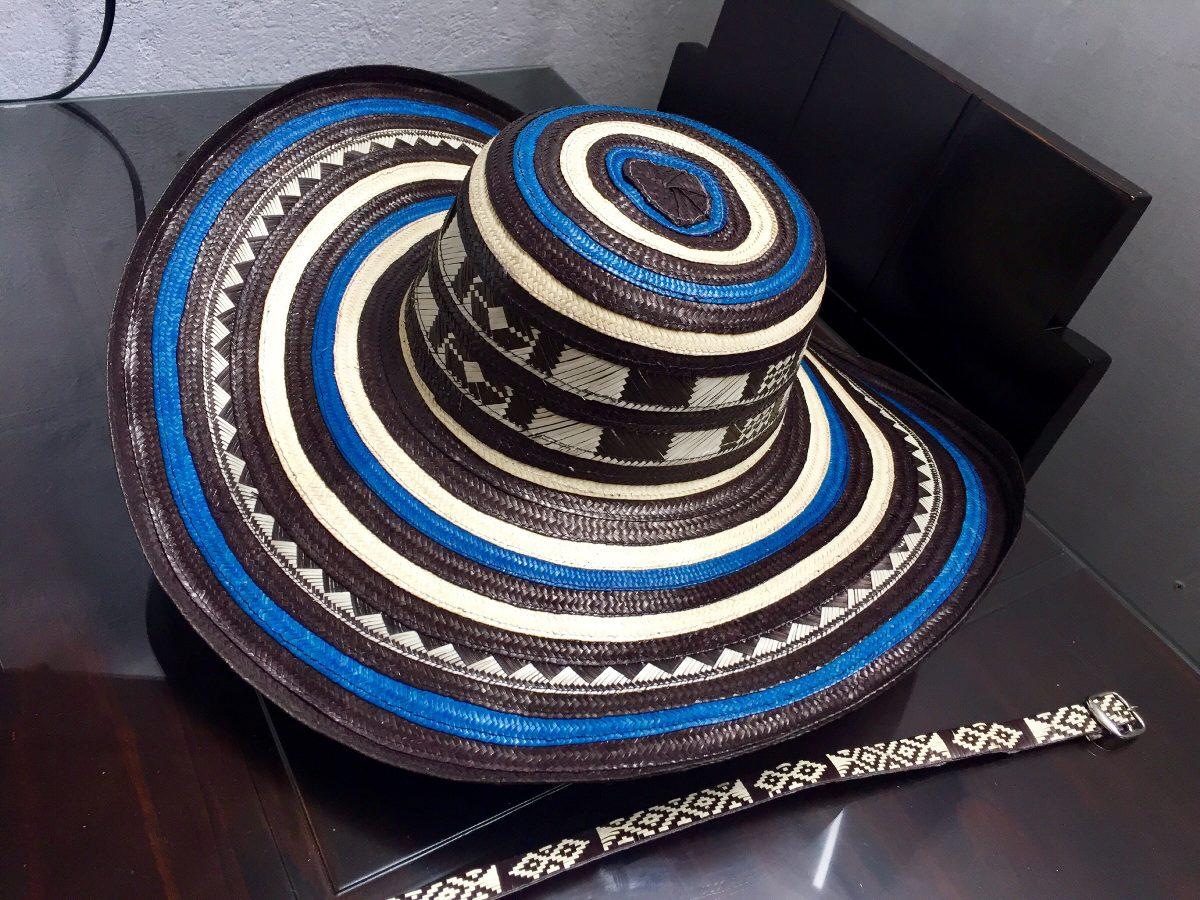 sombrero vueltiao colombiano azul 19 vueltas fino original. Cargando zoom. 53e2453d0b1