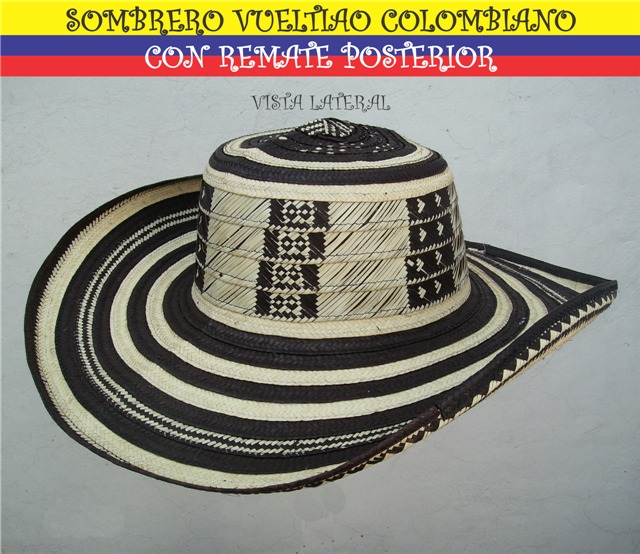 Sombrero Vueltiao Colombiano Con Remate Posterior Daa -   800.00 en ... 7ed5fee9eab