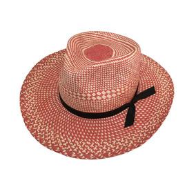52caef0227e13 Sombrero Americano De Palma De Jipi Tipo Panamá Bicolor