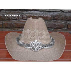 c5e0f8926ecda Sombreros Cowboy Y Texanos En Rafia E Hilo Con Y Sin Cordon en Mercado  Libre Argentina