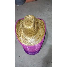 0761abbd9b8af 50 Sombreros Vaqueros De Palma Niño O Adulto Orilla De Color
