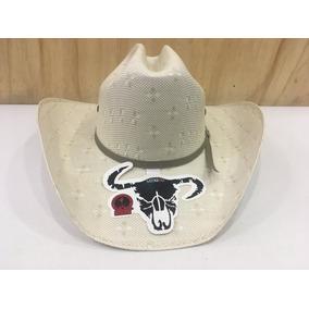 e27adf532490e Sombrero Vaquero Cuernos Chuecos Americano Hueso Originales