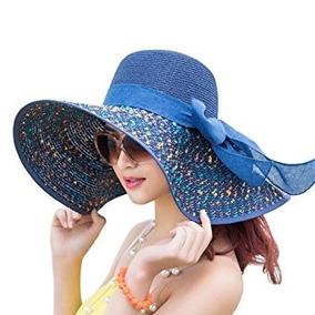 b3e3b723cd281 Sombrero Ancho Ala Ancha Mujer Flexible Playa Sol Bikini - Sombreros ...