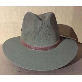 ca36e0a067e1e Sombrero Verde Vintage Hipster Toquilla Cinta Marrón Nuevo