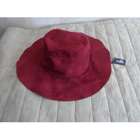 3cafefb057b9f Sombrero De Gamuza Nuevo Para Dama