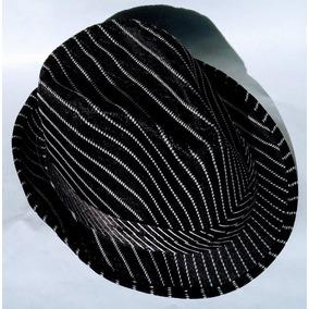 03a82515cf119 Sombrero Chambergo Tela Sintetica Negro Con Rayas Unisex
