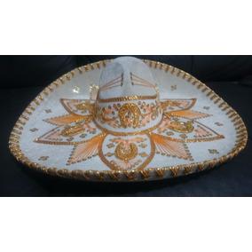 fa43b04357e57 2 Sombrero Charro Blanco Oro Plata Adulto Fino Mariachi Mex