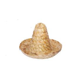 df6fc0734caf7 30 Sombrero Zapata Miniatura 15cm Palma Fiesta Mexicano
