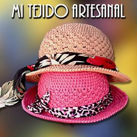255446385ff33 Sombreros Y Capelinas Tejidos Al Crochet Para Damas - Ropa y ...