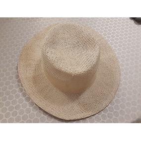 137a65e98405b Sombrero Paja Tejida Color Natural Gorro Ala Circular