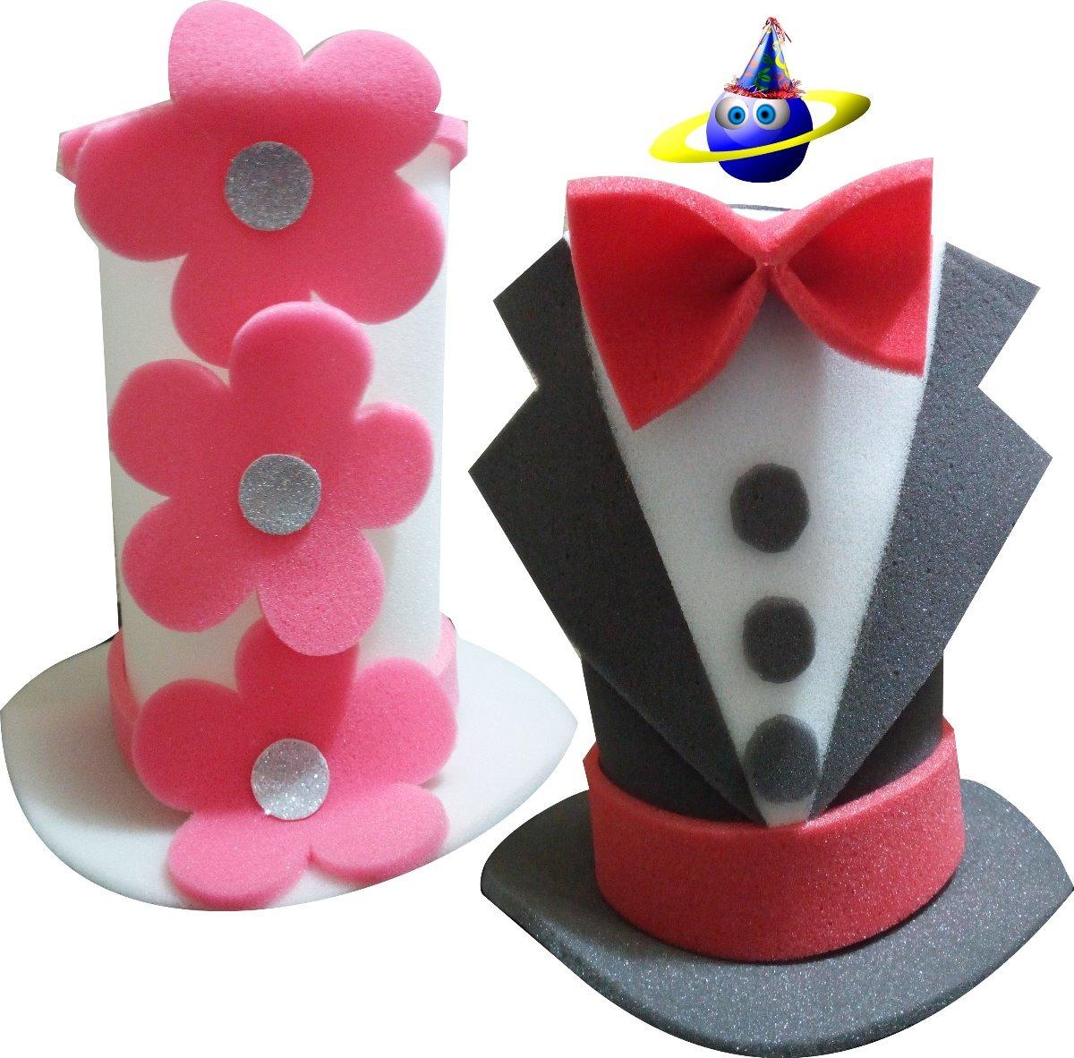 sombreros de espuma boda novios fiesta hule goma batucada dj. Cargando zoom. 7d1241d6a45