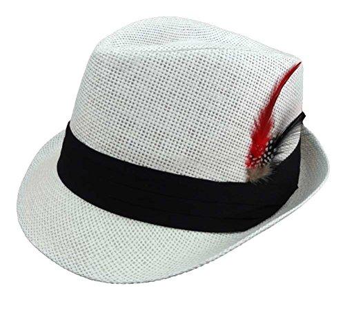 43fdb8a928bb9 Sombreros De Paja Fedora Para Hombres Con Pluma De Moda -   96.777 en  Mercado Libre